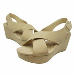 Chinese Laundry Nude Wedge Sandals like NEW